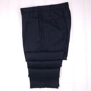Brooks Brothers Blue Linen Pants 33x32 Navy Flat F